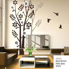 vinyl tree wall decals tree wall decal with birds tree shadow for living room bedroom vinyl