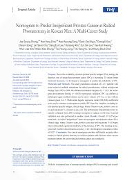 West Nomogram Chart Pdf Nomogram To Predict Insignificant Prostate Cancer At