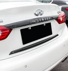 infiniti q50 exterior. exterior accessories for infiniti q50 q50l trunk cover rear door carbon fiber decorative protective stikcer frame r