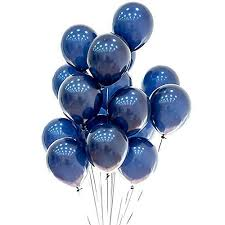 Blue Balloons 12 Inch 50pcs Latex Navy Blue Balloons Kids Birthday Party Balloons Helium Balloons