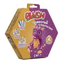 """Пушистый пластилин """"<b>PLUSH</b>"""" <b>набор для лепки</b> фиолетовый + ..."""
