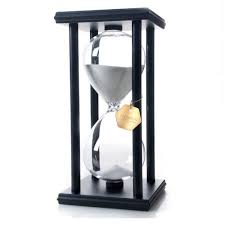 chic poscn 60 minutes durable glass hourglasses black wood sand timer for time management lp9007