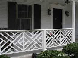 chippendale designed porch baers