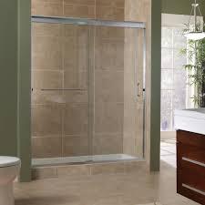 delta frameless sliding shower door installation designs