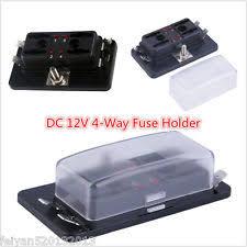 12 volt fuse block 12v car boat 4way terminals circuit standard ato atc blade fuse box block holder fits