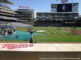 Target Field Eagles Concert Seating Chart Target Field View From Dugout Box 5 Vivid Seats