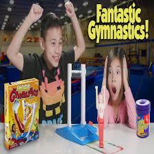 fantastic gymnastics. evan beats jillian in fantastic gymnastics battle, both get beanboozled