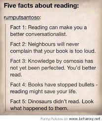 Funny Quotes About Reading Funny Five Facts About Reading
