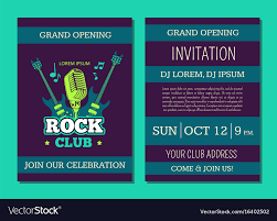 Concert Invite Template Invitation Card Template Opening Rock Music