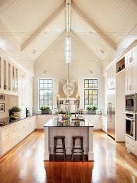 lighting for tall ceilings. how to master the space in a kitchen with tall ceilings lighting for n