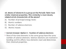 Elements In The Same Group Of Periodic Table Have Similar Chemical ...
