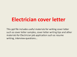 Sample Electrical Technician Cover Letter Cover Letter For Electrical Job