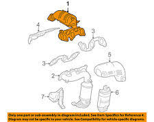 exhaust manifolds & headers for toyota sienna ebay 2004 toyota sienna exhaust diagram at Sienna Exhaust Diagram
