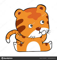 cute animated baby tigers. Fine Baby Cute Baby Tiger Cartoon Isolated White Background U2014  Archivo Imgenes Vectoriales On Animated Tigers O