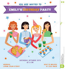 vector invitation flyer card for teenage girl s birthday party vector invitation flyer card for teenage girl s birthday party