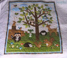 baby shower woodland animal theme | Next, my woodland animals ... & boogaloo: Forest Friends Baby Quilt Adamdwight.com