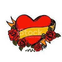 Starobylé Tetování Srdce S Mašlí Vektory Z Knihovny Clipartme