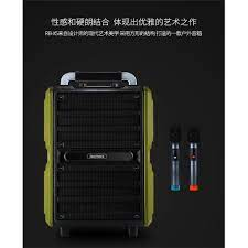 Loa kéo Bluetooth Karaoke cao cấp Remax RB-X5 công suất 50W (Đen) - Kèm 2  micro không dây - Loa kéo