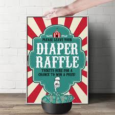 raffle sign diaper raffle sign vintage circus printable file only bring