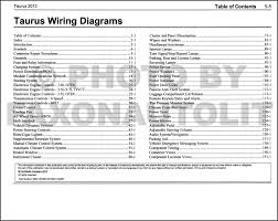 2013 ford taurus wiring diagram manual original