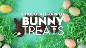 chocolate dipped bunny treats fun with food better homes gardens