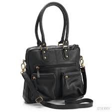 ebony leather purse
