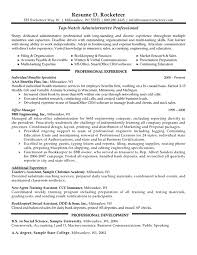 Examples Of Administrative Resumes Best Administrative Professional Resume