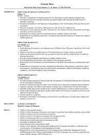Director Pharmacy Resume Samples Velvet Jobs
