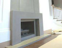 concrete hearth fireplace surround ideas