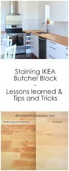 staining ikea butcher block lessons learned tips and