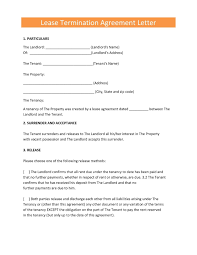 Notice Of Lease Termination Letter From Landlord To Tenant Rent Notice Of Termination Letter New Sample Mercial Lease