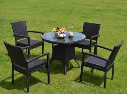 new design rattan tea table chair set