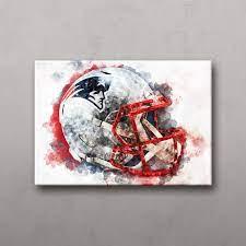 new england patriots helmet canvas