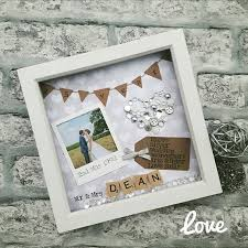 this handmade personalised scrabble art frame makes the perfect anniversary gift