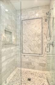 ... Bathroom, Elegant White Marble With Mosaic Small Tiles Flooring Wet  Room And Shower Tile Design ...