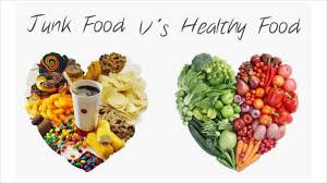difference between healthy food and junk food