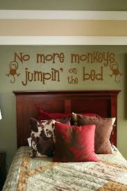 no more monkeys jumping on the bed wall decal with no more monkeys jumping on the