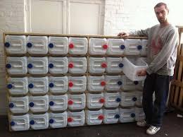 diy storage shelf using recycled plastic bottles
