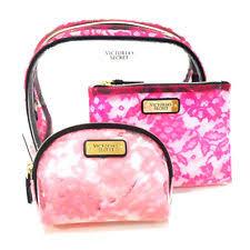 new genuine victoria s secret makeup beauty bag trio gift set cosmetics case