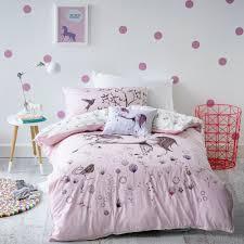 Kids Bedroom Girls Adairs Kids Girls Unicorn Dreaming Bedlinen Bedroom Quilt Covers