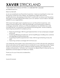 Security Supervisor Cover Letter Best Loss Prevention Supervisor Cover Letter Examples