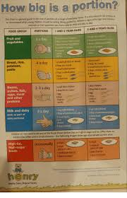 Food Portion Size Chart How Big Is A Portion This Chart Is A General Guide To The