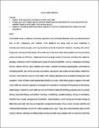 coral reef reflection essay coral reefs reflection prompt  this preview has intentionally blurred sections sign up to view the full version