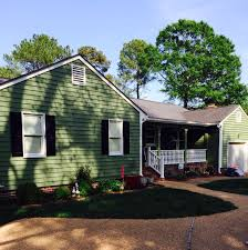 House Painted With Sherwin Williams Artichoke Green Exterior House - Paint colours for house exterior