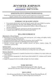 Example Of Experience In Resume