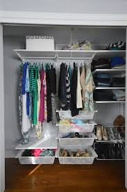 after a lot of research i decided to go with the ikea algot system for my closet organization it was better quality than similar systems at lowe s and home