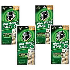 (4 Pack) Hot Shot No Pest Strip Unscented Hanging Vapor Insect Repellent