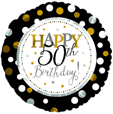 18″ Happy 50th Birthday Foil Balloon – Best Party Supplies Store in Nigeria