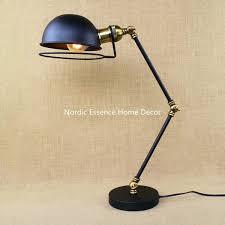 desk swing arm desk lamp ikea nordic french horn loft american machinery retro creative