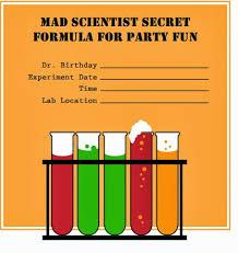 Birthday Invitations Printable The Best Printable Science Party Invitations Fun Science Uk